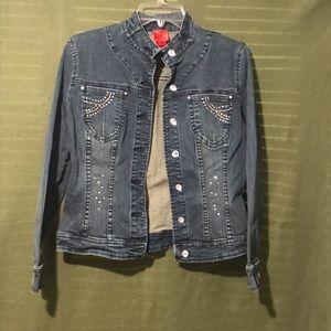 Vera Vera Blue Jean Jacket Size Small Petite